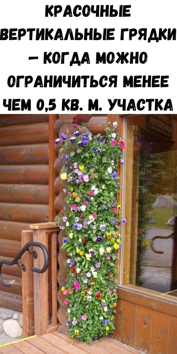 Красочные вертикальные грядки — когда можно ограничиться менее чем 0,5 кв. м. участка