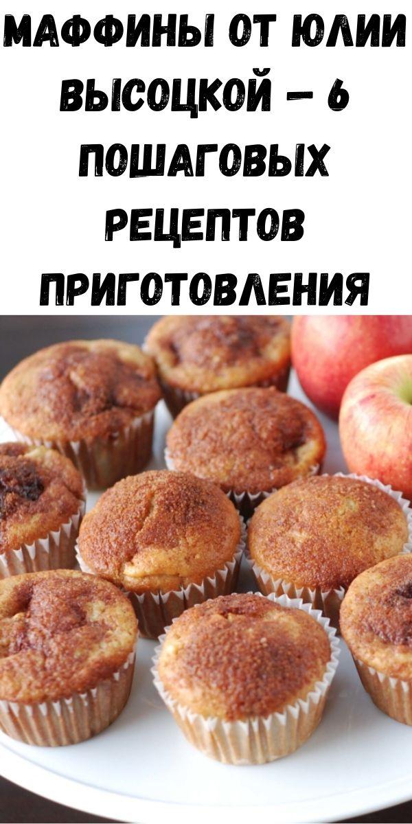 Маффины от Юлии Высоцкой — 6 пошаговых рецептов приготовления