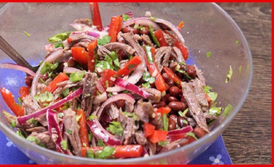 Оригинальный и безумно вкусный салат «Тбилиси» делаю на все праздники. Такой пикантный, с изюминкой...