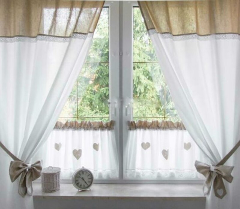 45 восхитительных идей для пошива кухонных штор и занавесок