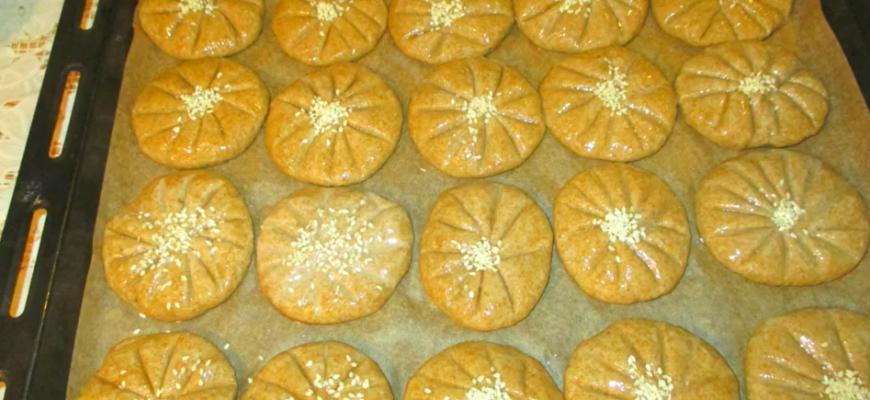 Полезное печенье из двух видов муки