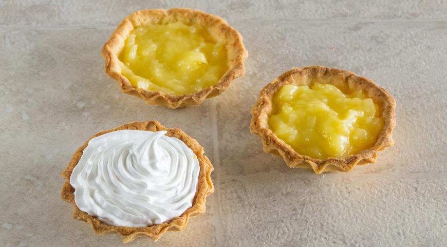 Тарталетки с лимонным кремом