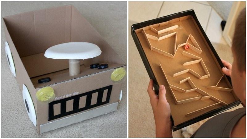 Вторая жизнь картонных коробок: 30+ идей, достойных внимания