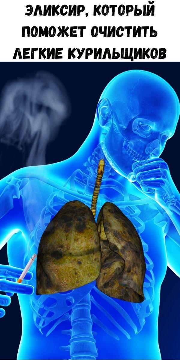 Эликсир, который поможет очистить легкие курильщиков