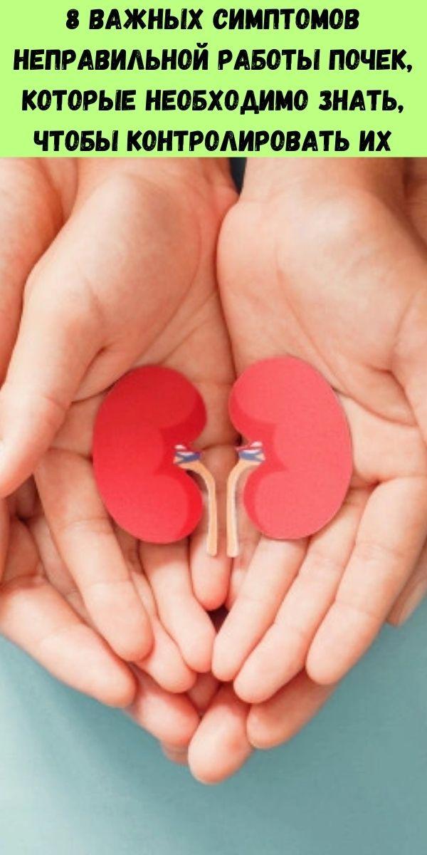 8 важных симптомов неправильной работы почек, которые необходимо знать, чтобы контролировать их