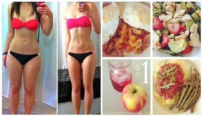 Она потеряла 10 кг за 7 дней, вот ее план диеты