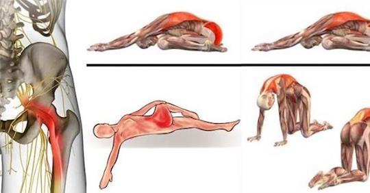 10 растяжек грушевидной мышцы, которые помогут вам избавиться от ишиаса, боли в области тазобедренного сустава и поясницы
