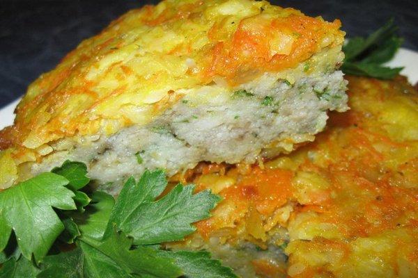 Запеканка из рыбного филе с овощами: прекрасный ПП-обед!