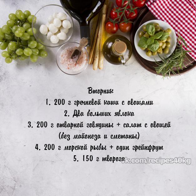Рацион правильного питания на неделю для похудения (1200-1500 ккал)
