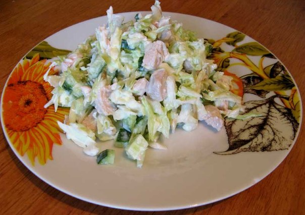 Салат для сидящих на диете. Худеем вкусно!